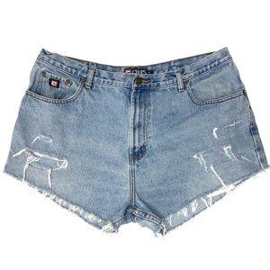 Ralph Lauren chaps vintage denim cut off shorts 16